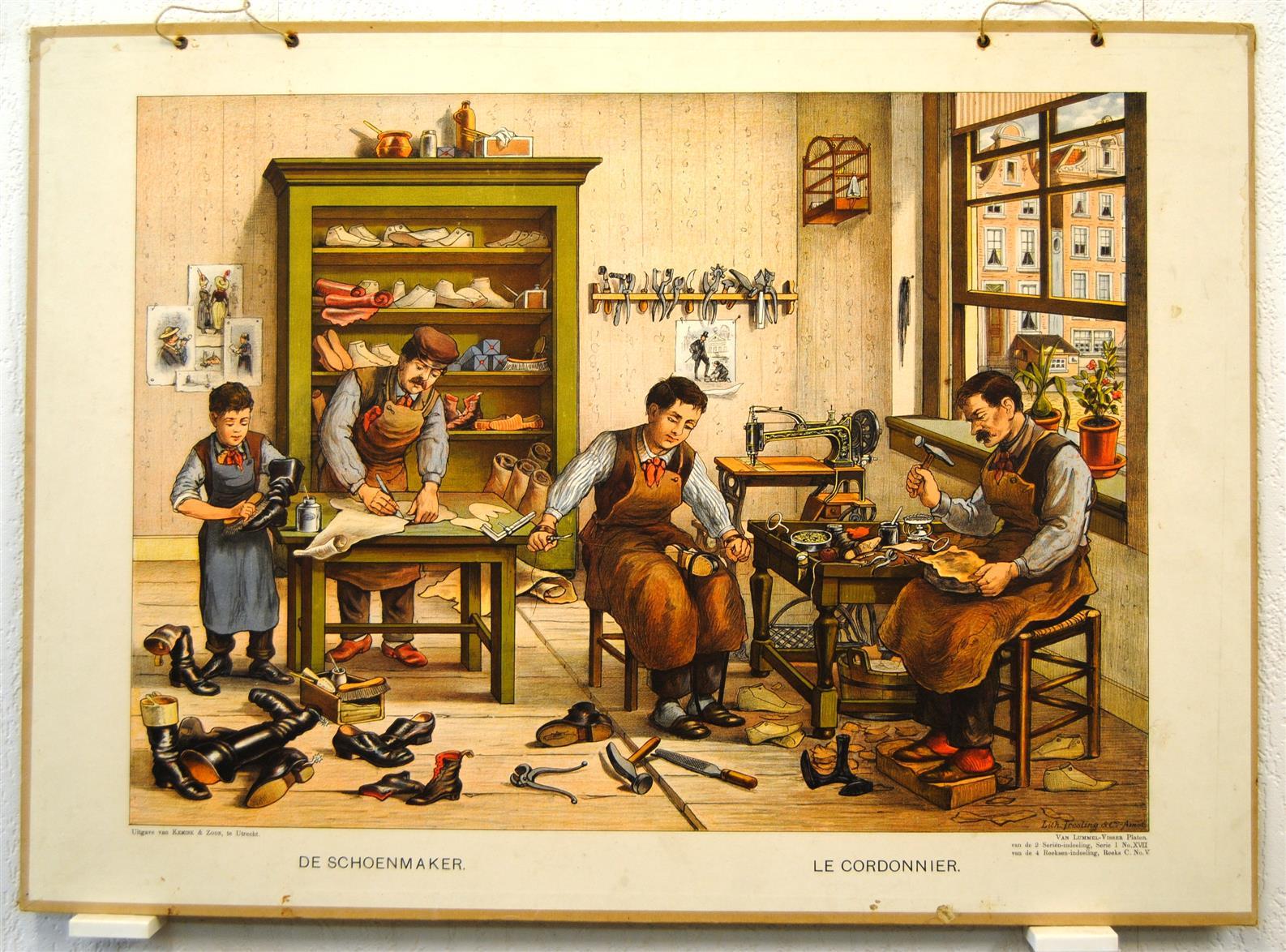 Lummel, H.J. van., ( Illustrator Josef Hoevenaar ) ( SCHOOLPLAAT ) De ...