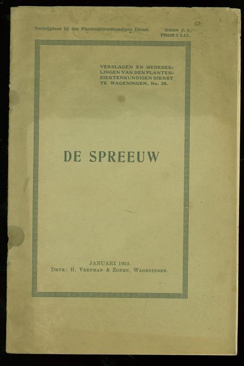 WOLDA, G., PLANTENZIEKTENKUNDIGE DIENST, WAGENINGEN - De spreeuw