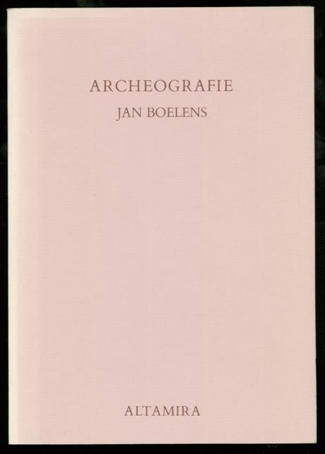 BOELENS, JAN - Archeografie