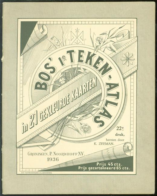 R. Bos, K. Zeeman - Bos' 1e teken-atlas : in 21 gekleurde kaarten.