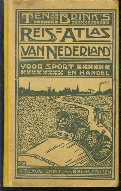 HOLS, P., STENVERT JZN., M. - Ten Brink's Reisatlas van Nederland, voor sport en handel, met alphabetische klapper - ( 8e druk )